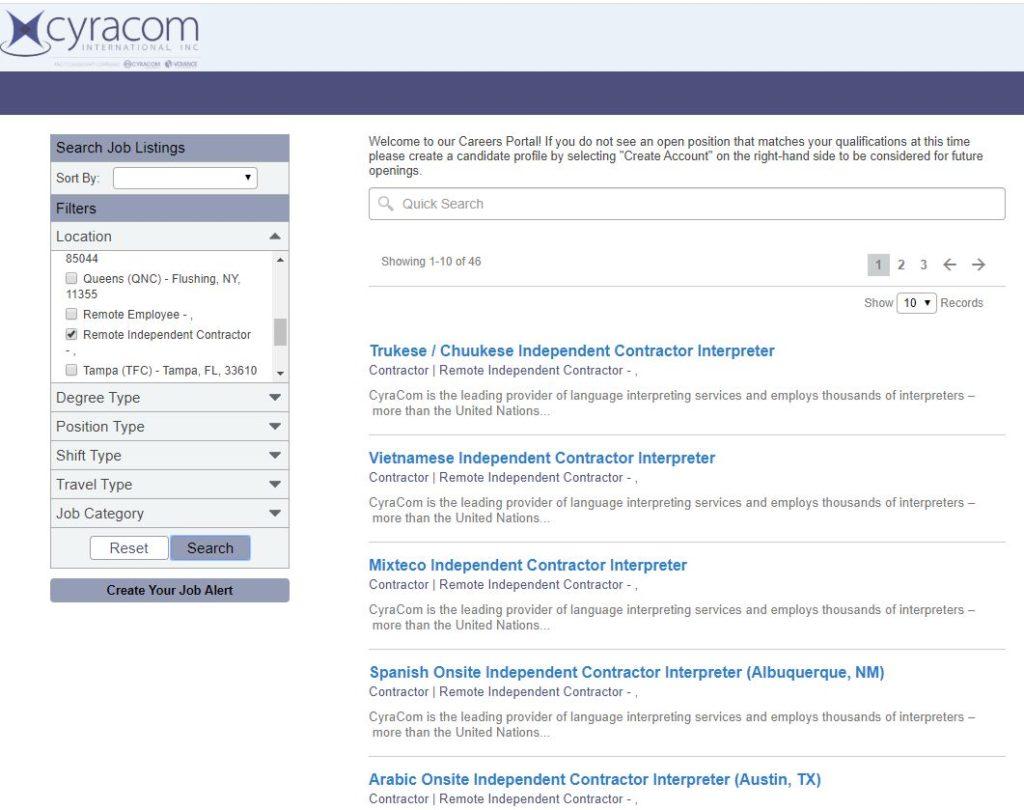 home based translation jobs cyracom