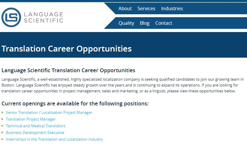 home based translation jobs language scieenific