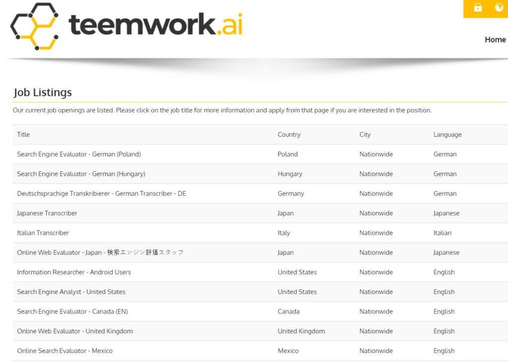 search engine evaluator jobs teamwork